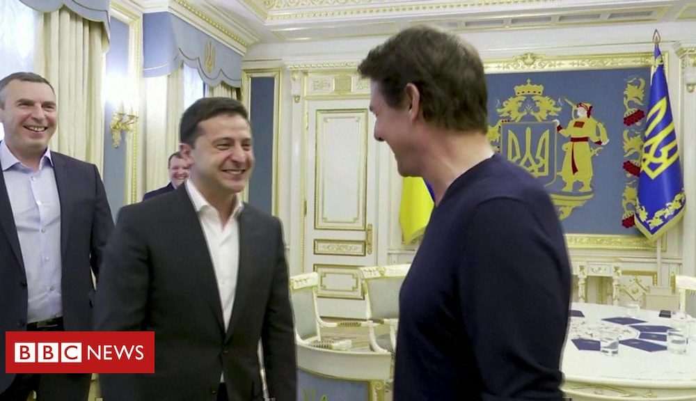 Tom Cruise meets Ukrainian president to order about fresh film