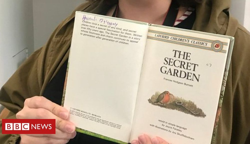 Girl finds her childhood e-book in museum