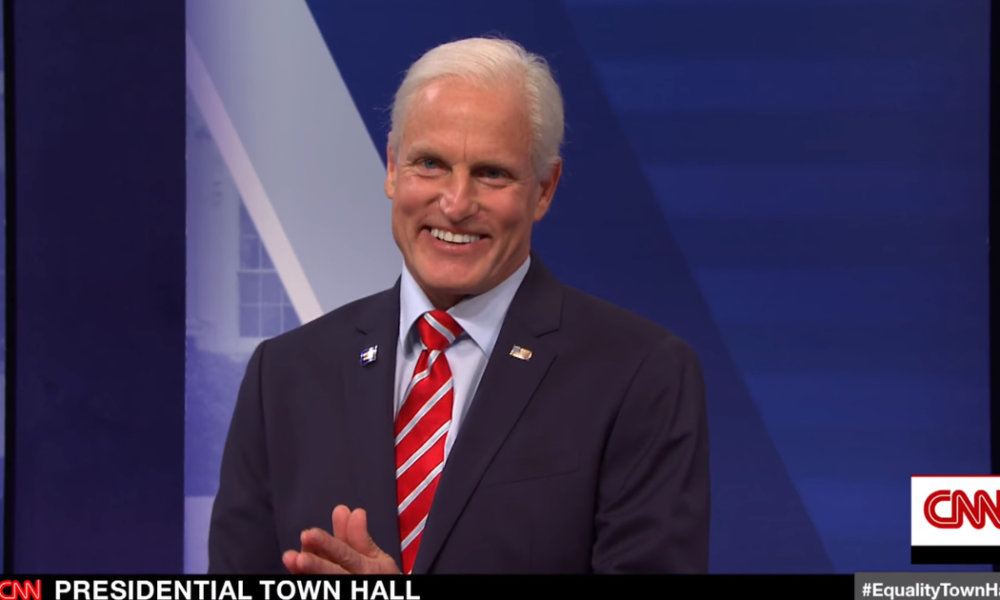 The total Democrats debate LGBTQ considerations in a visitor-filled CNN town hall on 'SNL'