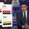 Trevor Noah goes after the vaping commercial, would not defend help