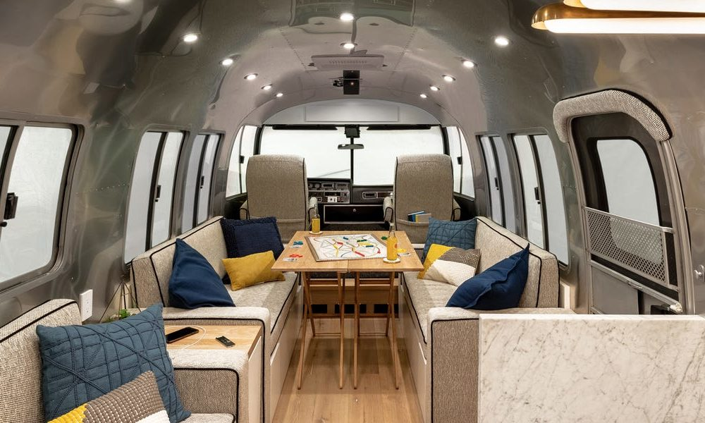 This runt dwelling became produced from a vintage transformed Airstream trailer and is named 'Loretta'