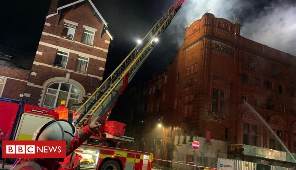Eccles Crown Theatre: Firefighters care for derelict constructing blaze – BBC Files