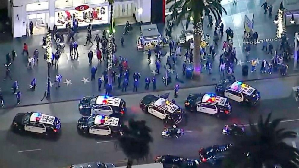 Hollywood 'Star Wars' moviegoers scatter as police scurry ends with wreck at theater