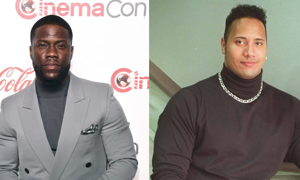 Kevin Hart dressed as a younger Dwayne 'The Rock' Johnson for Halloween, and nailed it