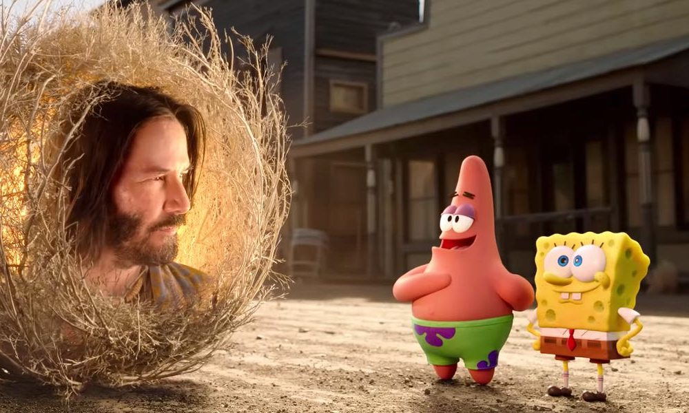 Keanu Reeves is a excellent tumbleweed in the trailer for the contemporary Spongebob film