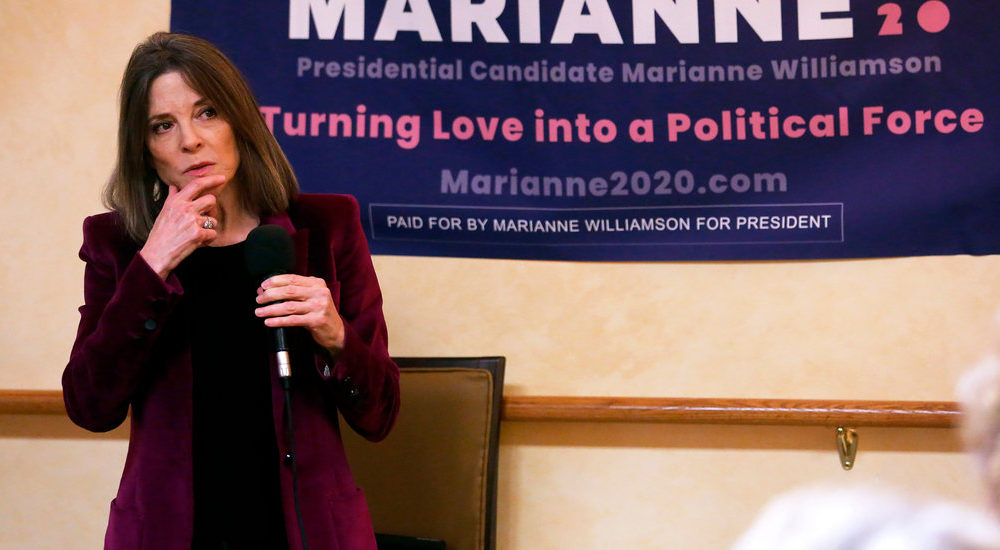 Marianne Williamson Drops Out of 2020 Presidential Bustle