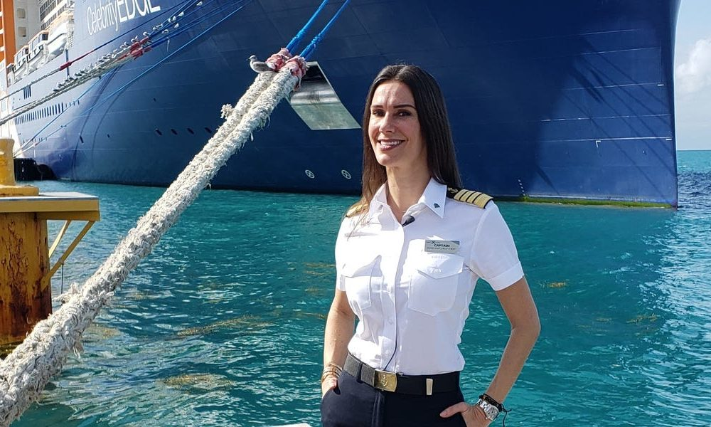 Meet The US's first female captain of a mega cruise ship who brings her cat and mermaid tail on every voyage
