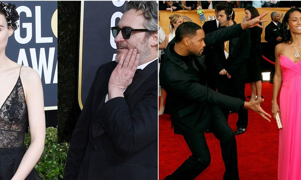 15 photos of celebrities stopping to love their varied halves on the crimson carpet