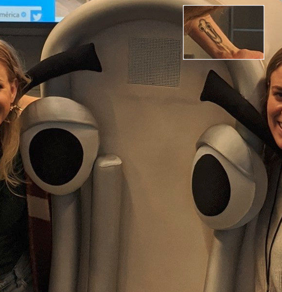 Microsoft employs a broad plush Clippy whose performer has a broad Clippy tattoo