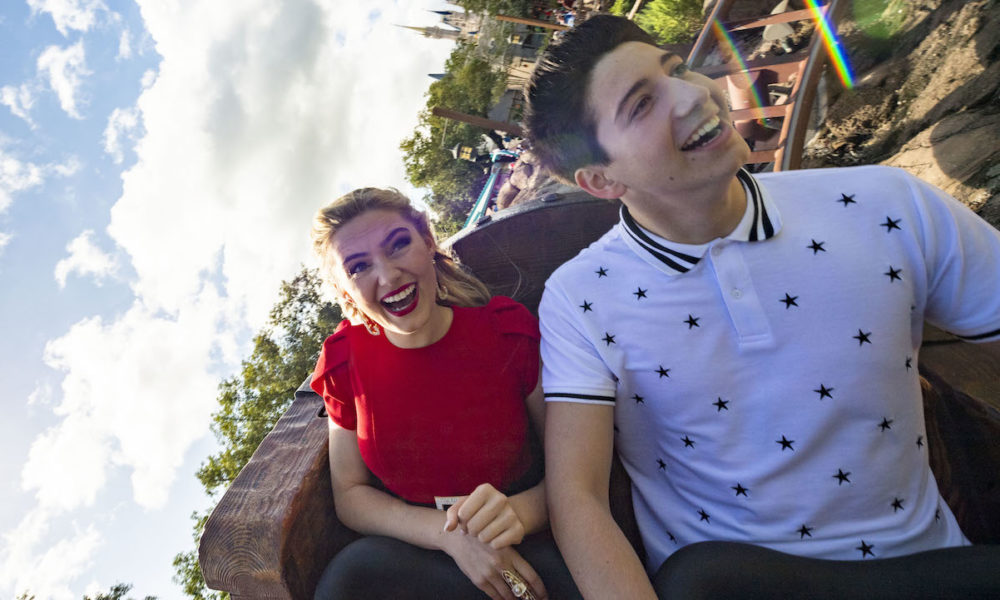 Meg Donnelly and Milo Manheim Celebrate the Premiere of the Disney Channel Fashioned Movie, 'Zombies 2,' at Walt Disney World Resort