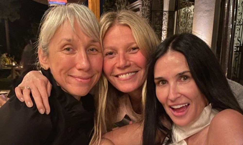 Gwyneth Paltrow hosted a 'no make-up' salvage at the side of Kate Hudson, Demi Moore, and Keanu Reeves' girlfriend Alexandra Grant