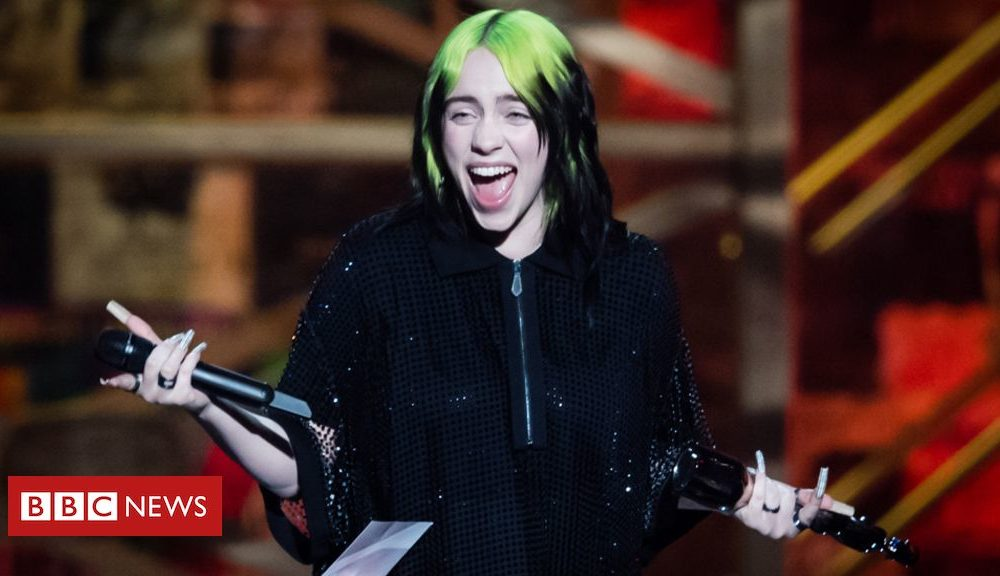 Billie Eilish lands number one with James Bond theme