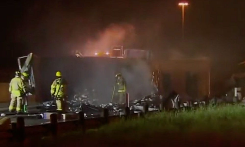 Truck Stuffed With Toilet Paper Catches Fireplace On Texas Interstate