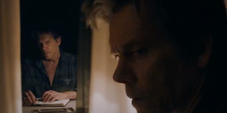 Kevin Bacon is a writer with a sunless secret in You May per chance well well possibly also just restful Contain Left trailer