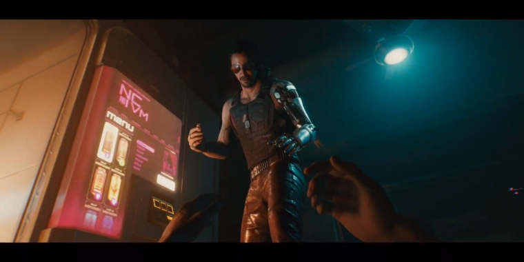 """Cyberpunk 2077's """"Braindance"""" sequence printed: Mosey, you alter into Keanu"""