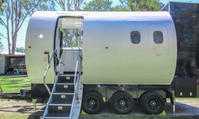 This $38,454 small house on wheels turned into built out of an airplane fuselage — peep inner 'Aero Small'