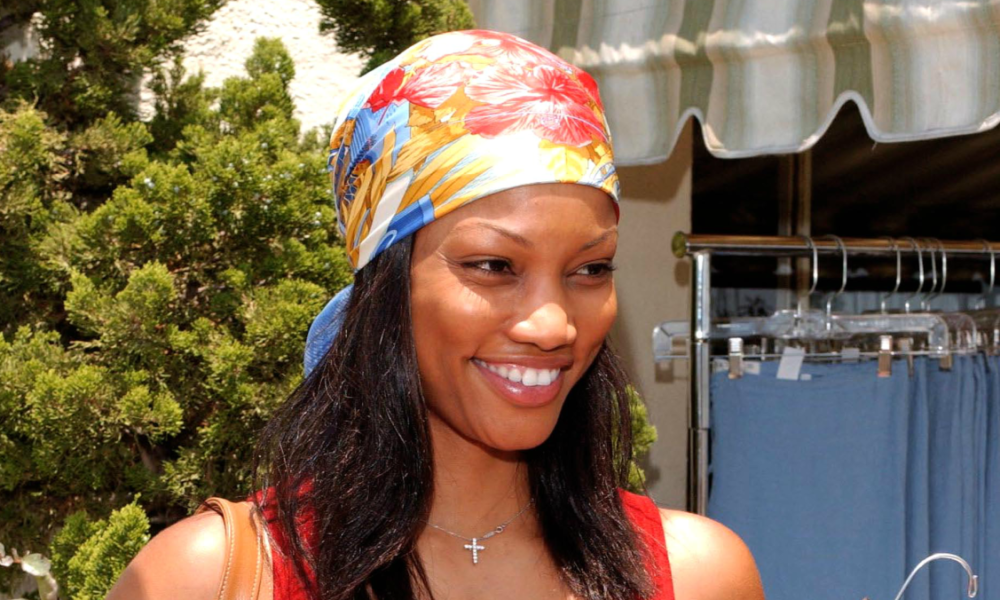 Immense Outfits in Vogue History: Garcelle Beauvais With a Floral-Print Silk Scarf in Her Hair