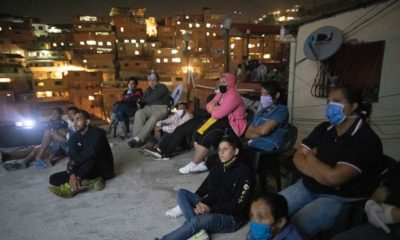 Movie night in Venezuela barrio gives respite from troubles