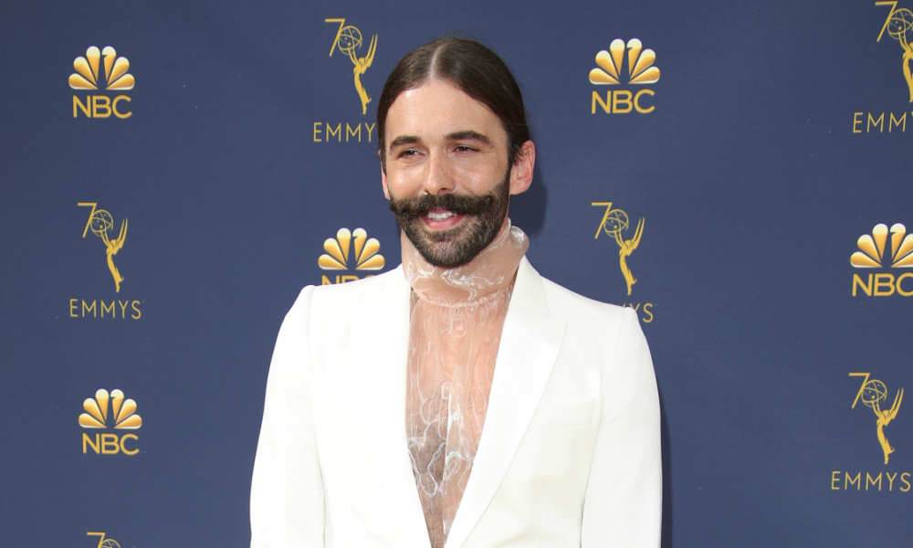 Big Outfits in Style History: Jonathan Van Ness in a White Stella McCartney Suit