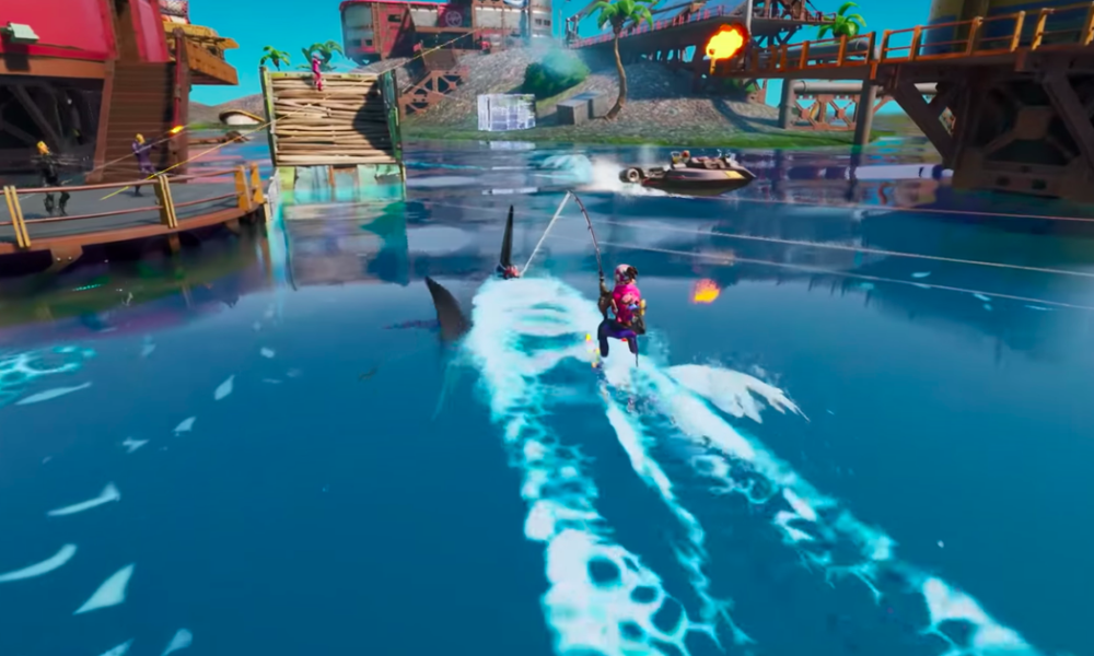 'Fortnite' contemporary season trailer unearths jetskiable sharks and I'm done for the day