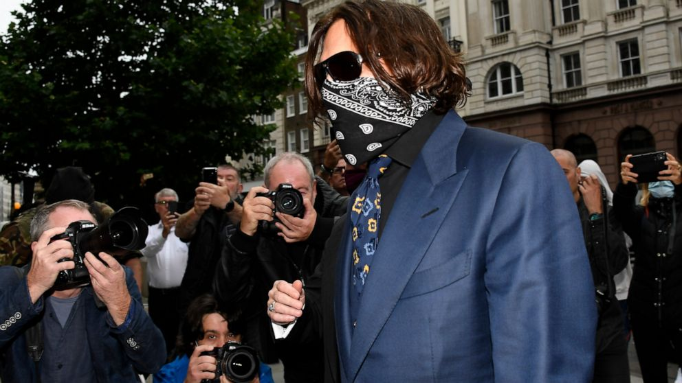 Hollywood Depp resulting from wrap up evidence at libel trial against tabloid