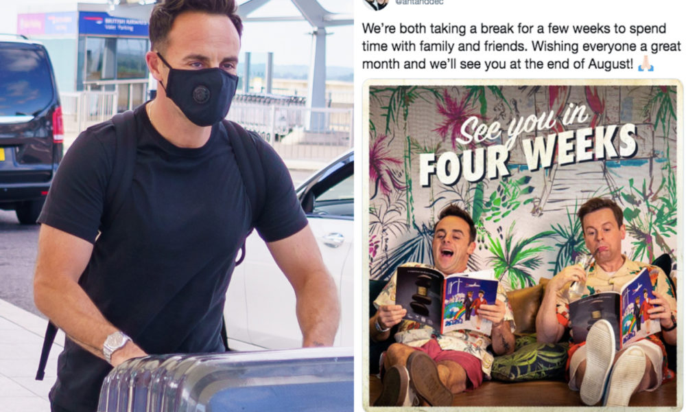 Ant McPartlin jets off on holiday with female friend Anne-Marie Corbett after quitting social media with Dec – The Solar