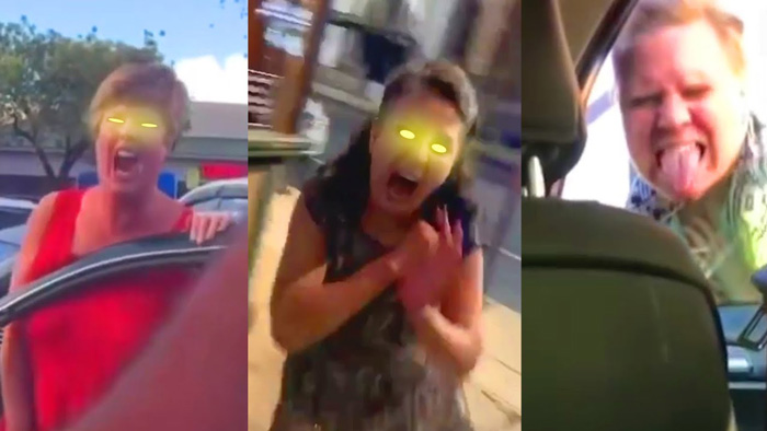 Here's a montage of Karens but their rants are replaced with zombie growls and screams
