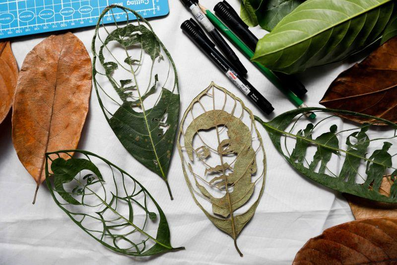 After factory layoff, Filipina cashes in on 'leaf artwork' accomplishing – Reuters