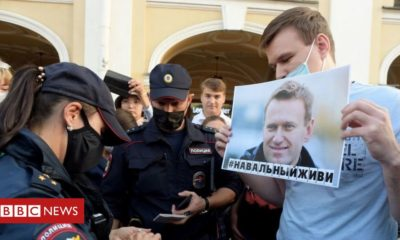 Alexei Navalny: Airplane to ship 'poisoned' Russian critic to Germany